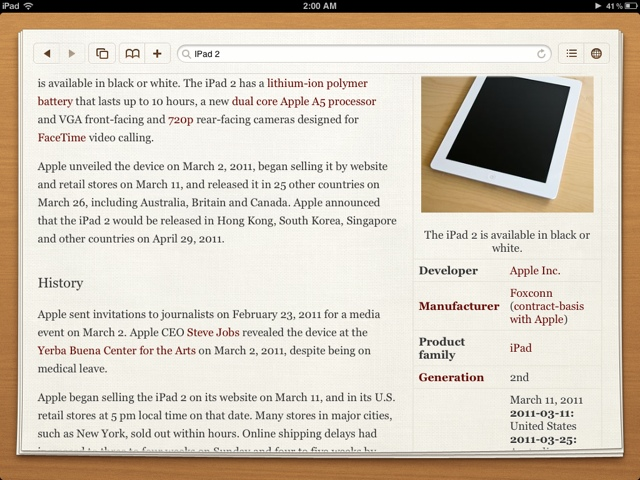 Articles on iPad!