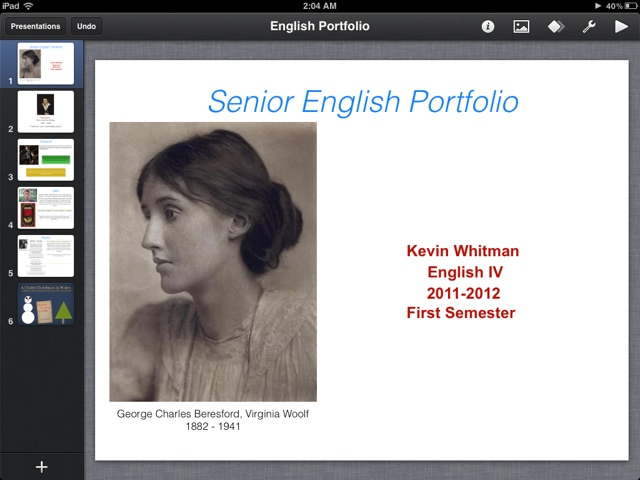 Keynote on iPad!