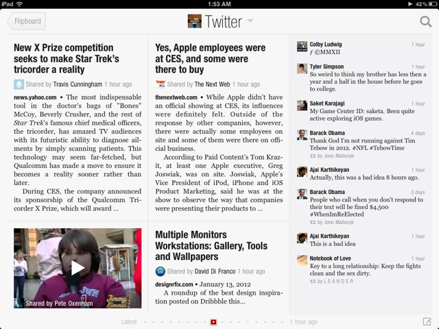 Flipboard on iPad!