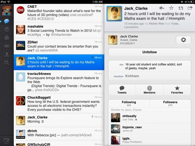 Twitter on iPad!