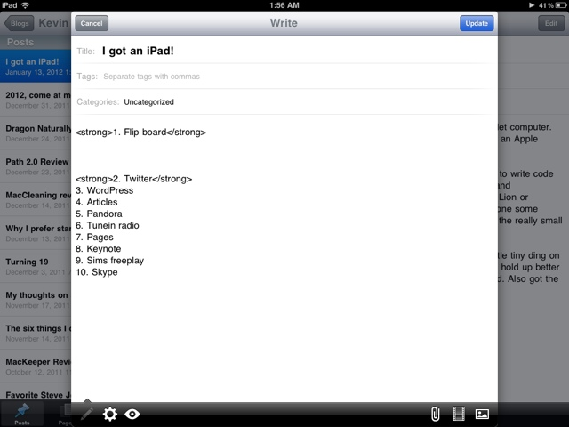 WordPress on iPad!