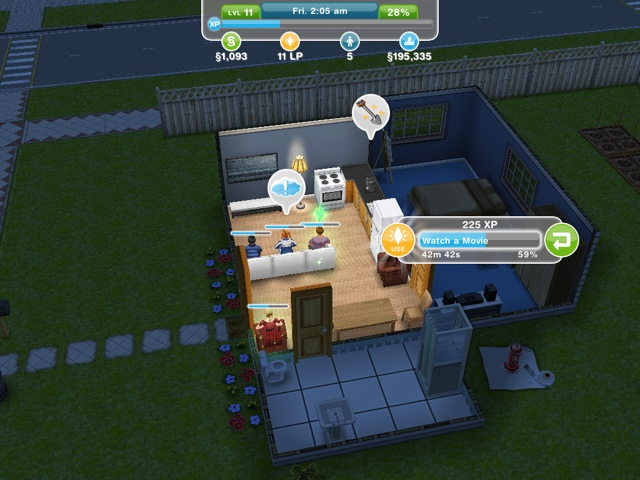 The Sims FreePlay on iPad!