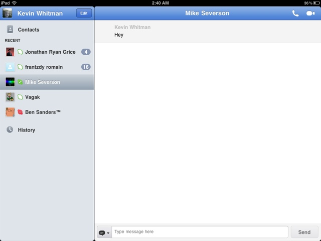 Skype for iPad!